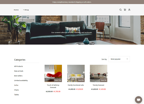 Category Page On Live Site