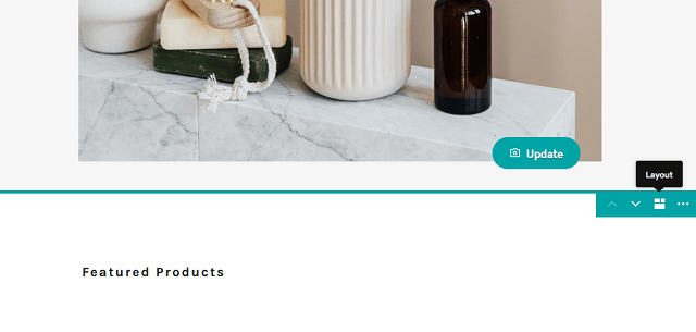 Layout Option In The Featured Products Section