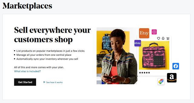 Websites + Marketing Marketplaces Setup Screen