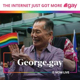George Takei George.gay is now live
