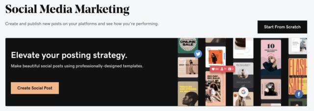 Websites + Marketing Social Media Dashboard