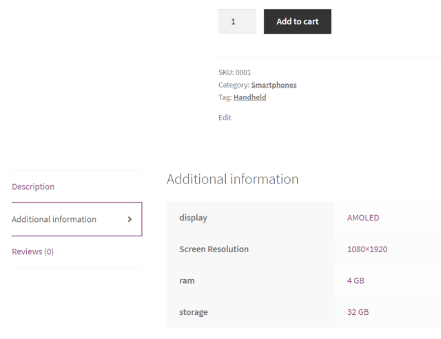 Create WooCommerce Pages Attributes