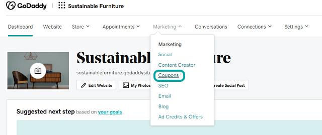 Coupons option for Websites + Marketing Ecommerce