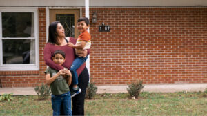 Consuelo Rosales with her kids