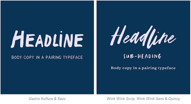 Playful font pairings example