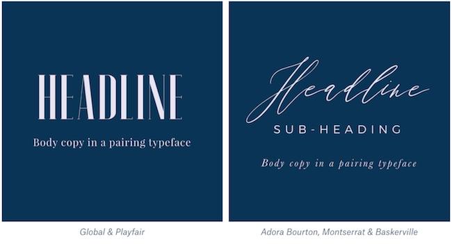 Elegant font pairings example