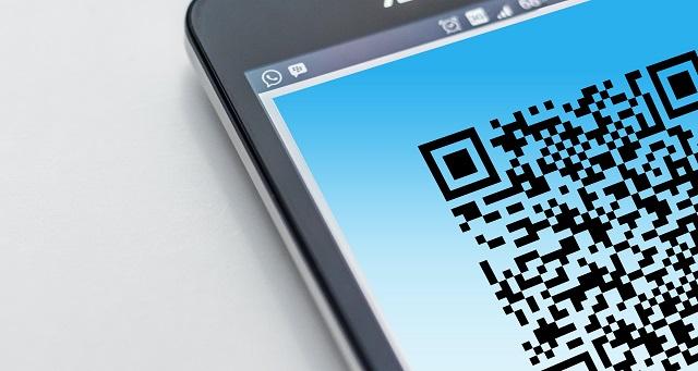 QR code on a smart phone
