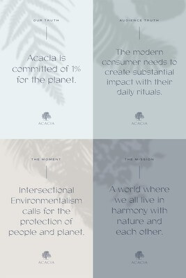Sample of graphic with four different designs for Acacia example