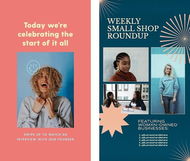 Ads celebrating women-led businesses