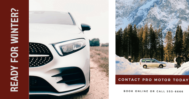 Example of winter car ad