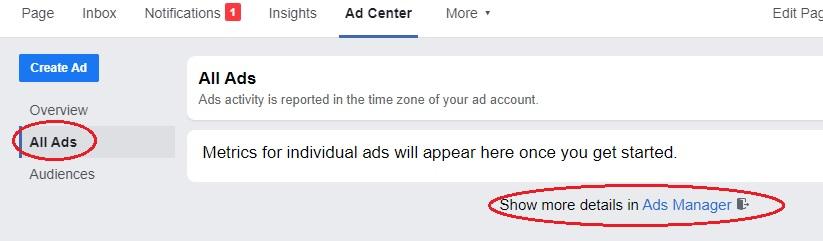 Ad Manager Link Option