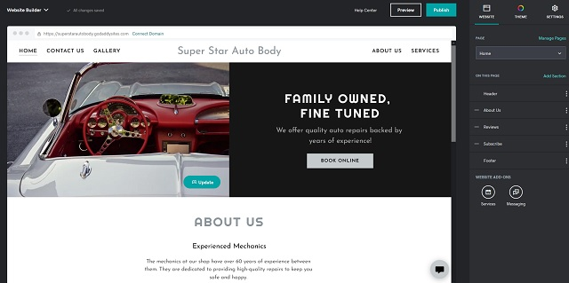 Websites + Marketing Generated Page For Auto Body Shop Example