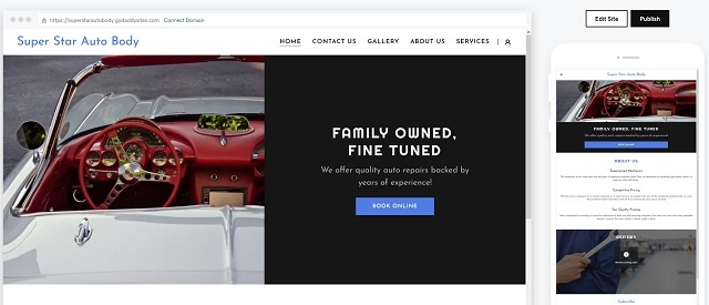 Automotive Website Preview Option In Websites + Marketing