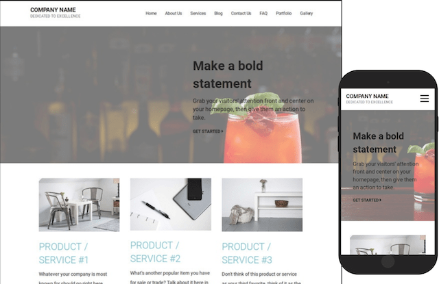 WordPress CMS Sample Theme