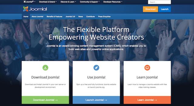 Joomla! CMS Homepage