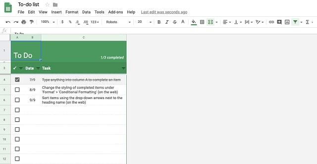 Task Management Software Spreadsheet List