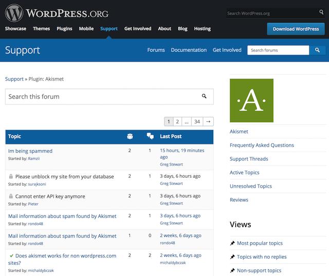 Suporte de comércio eletrônico WordPress