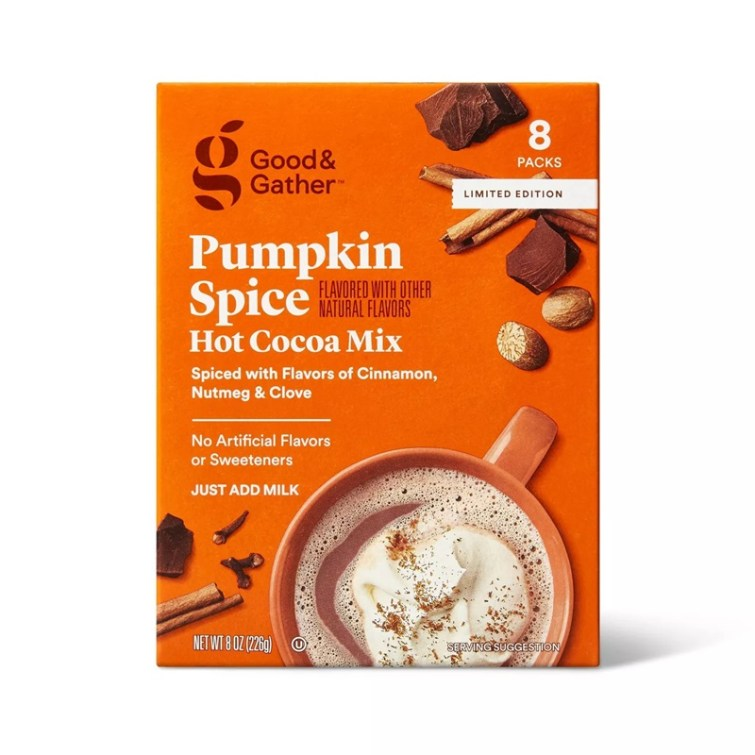 50 Dairy-Free Pumpkin Spice Sweets, Snacks, and More! Pictured: Good & Gather Hot Cocoa Mix