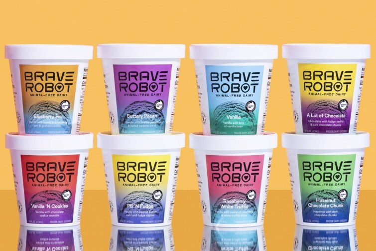 """When Vegan Isn't Dairy-Free, a New Era of Engineered Food. The new """"animal-free"""" dairy products and what they mean for dairy-free consumers. Pictured: Brave Robot Ice Cream made with Genetically Engineered, """"Vegan"""" Perfect Day Milk Proteins"""