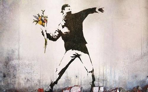 banksy-flowers