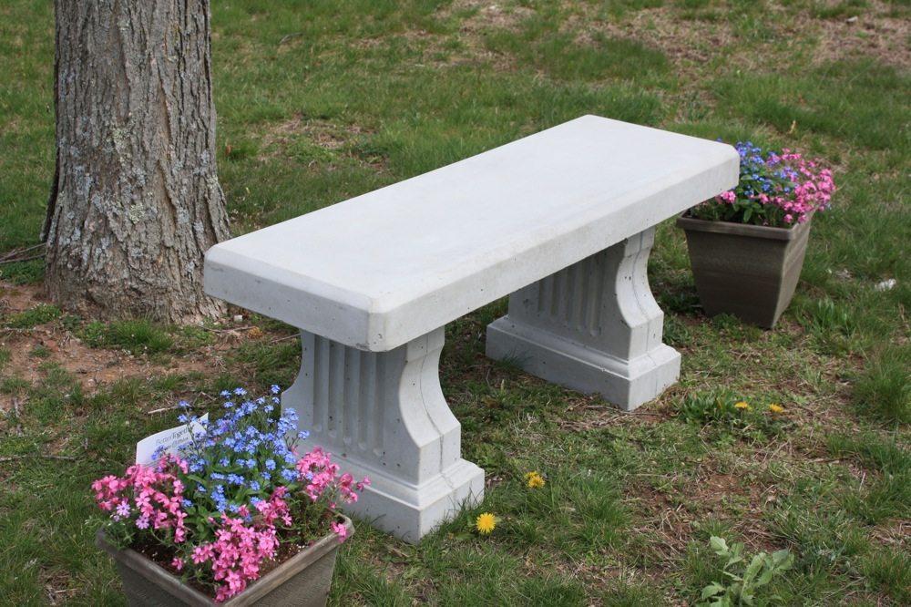 Concrete Coliseum Bench W Straight Seat Site Furnishings
