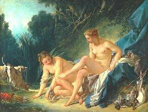 F. BOUCHER, Diane sortant du bain (1742)