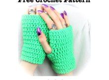 Free Crochet Pattern - Simple Wrist Warmers