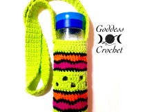 Free Crochet Pattern - Making Waves Water Bottle Holder