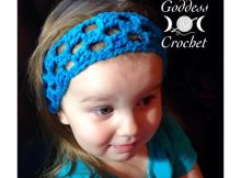 Free crochet pattern - Simple Squares Headband
