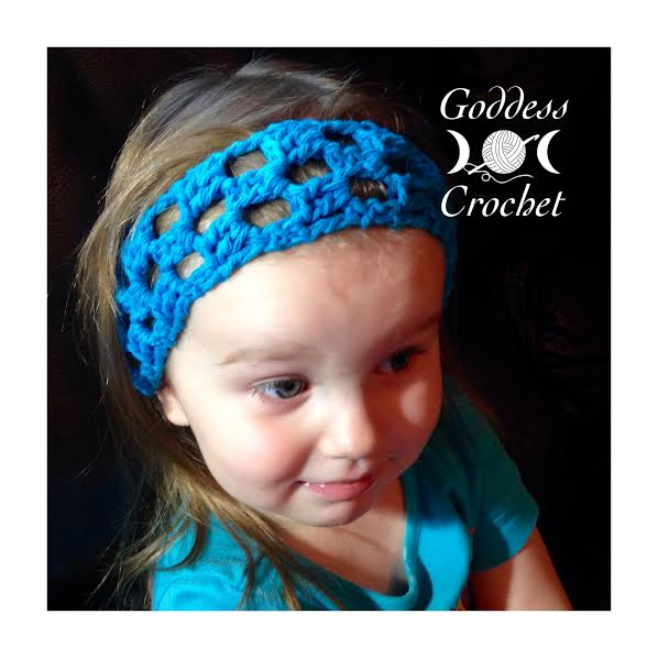 Free crochet pattern - Simple Squares Headband