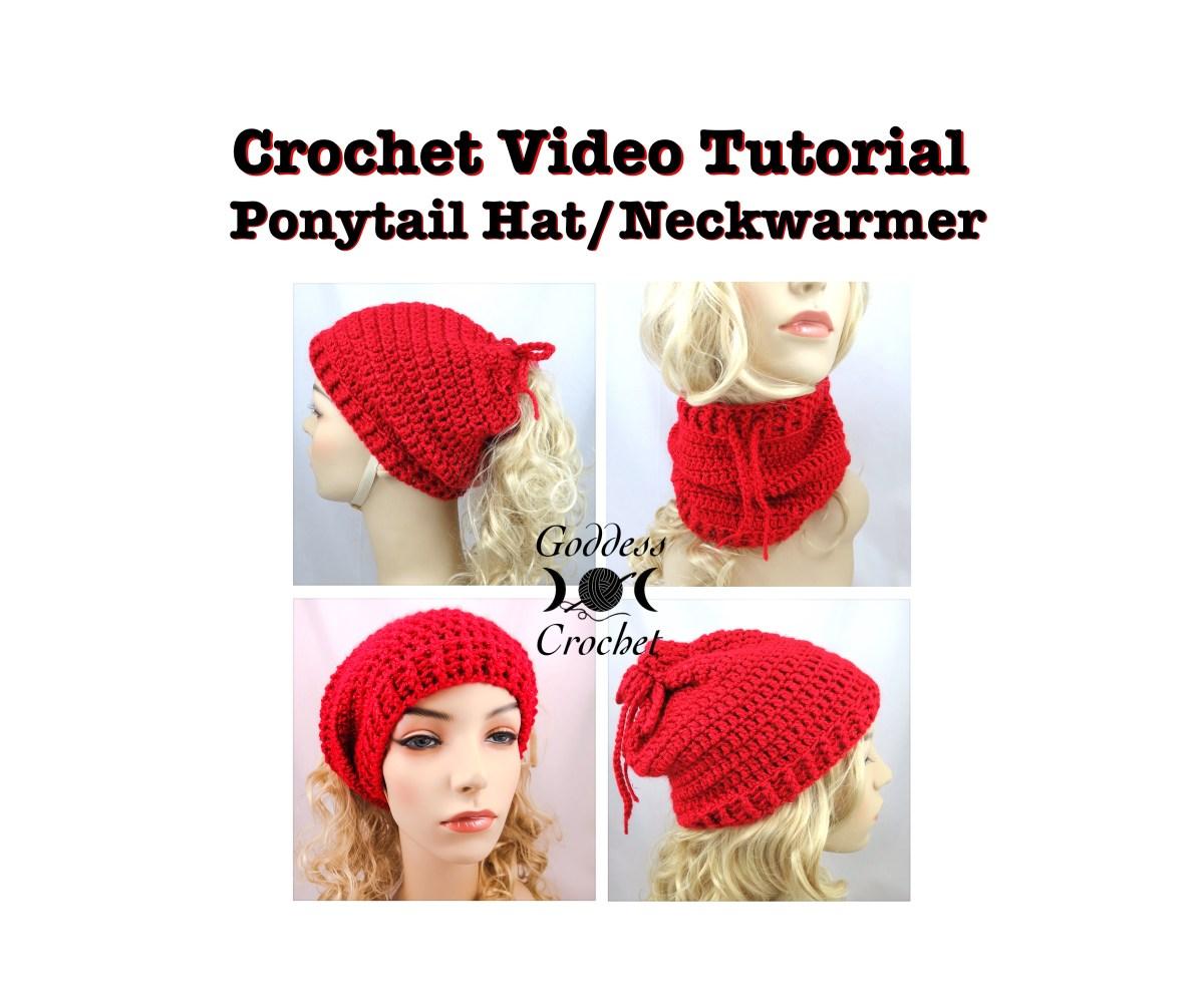 Crochet video tutorial convertible ponytail hat neckwarmer crochet video tutorial convertible ponytail hat neckwarmer goddess crochet baditri Gallery