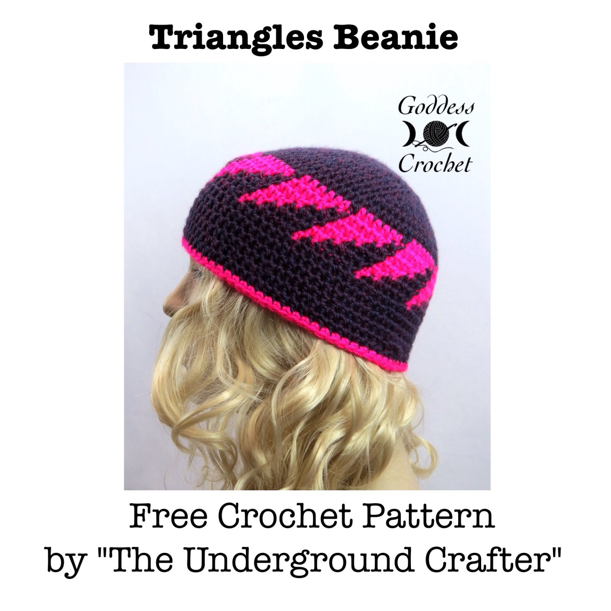 Free Crochet Pattern Link Hat : Triangles Beanie Hat ? Link to Free Crochet Pattern ...