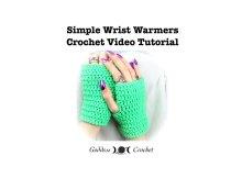 Wrist Warmers, crochet pattern, crochet tutorial, crochet video