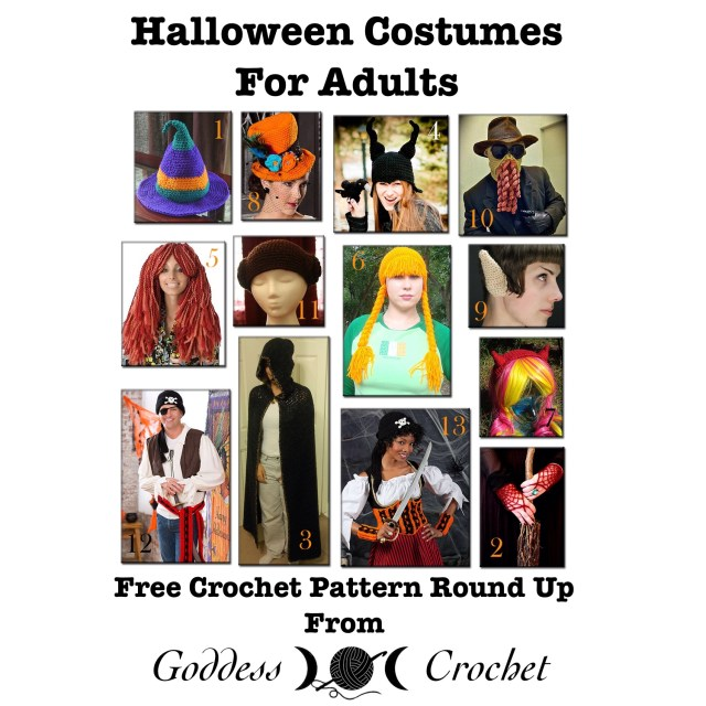 Halloween Costumes for Adults, Free Crochet Pattern Round Up