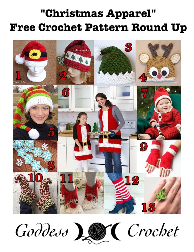 """Christmas Apparel"" - Free Crochet Pattern Round Up"