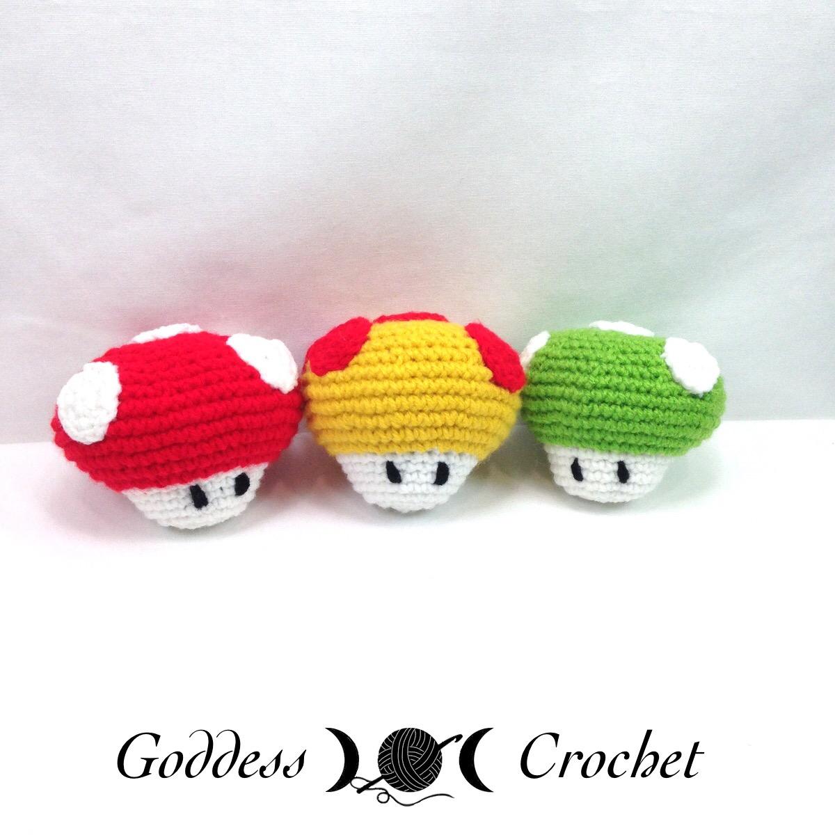 Super Mario Mushroom Free Crochet Pattern Review Goddess Crochet