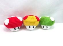 Super Mario Mushroom - Free Crochet Pattern