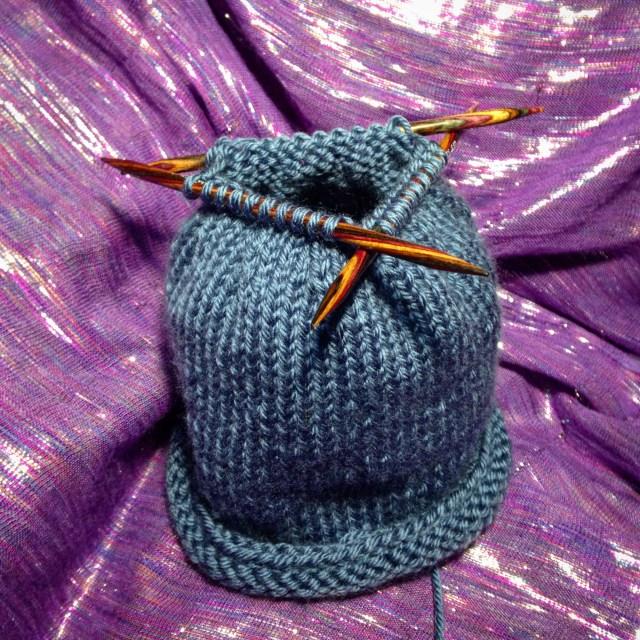 Knitting work in progress, Goddess Crochet