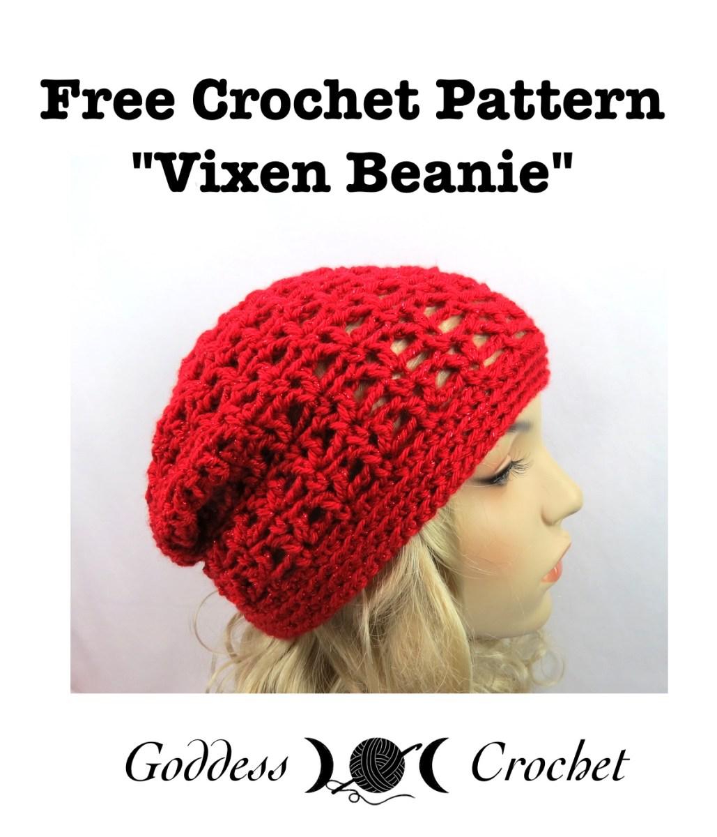 Vixen Beanie Free Crochet Pattern Goddess Crochet