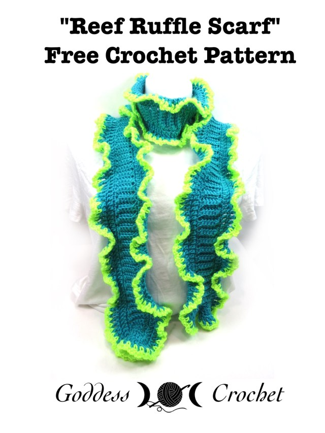 Reef Ruffle Scarf - Free Crochet Pattern