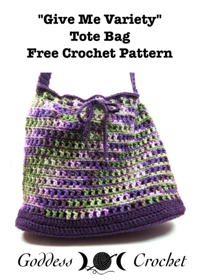 "Give Me Variety"" Market Bag – Free Crochet Pattern – Goddess Crochet"