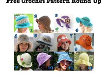 Summer Hats - Free Crochet Pattern Round Up