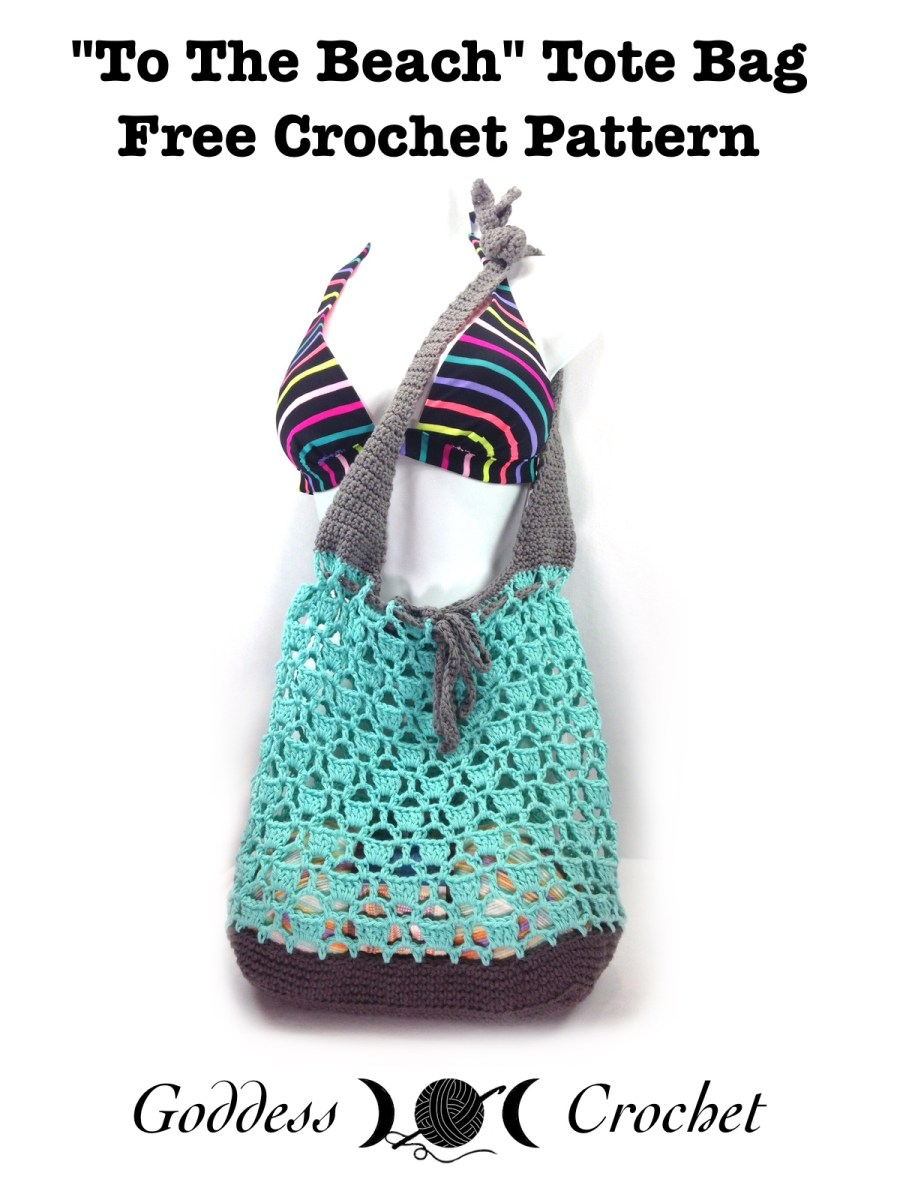 To The Beach Tote Bag Free Crochet Pattern Goddess