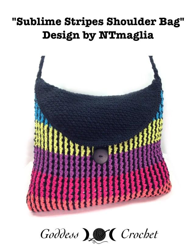 Sublime Stripes Shoulder Bag - Crochet Pattern