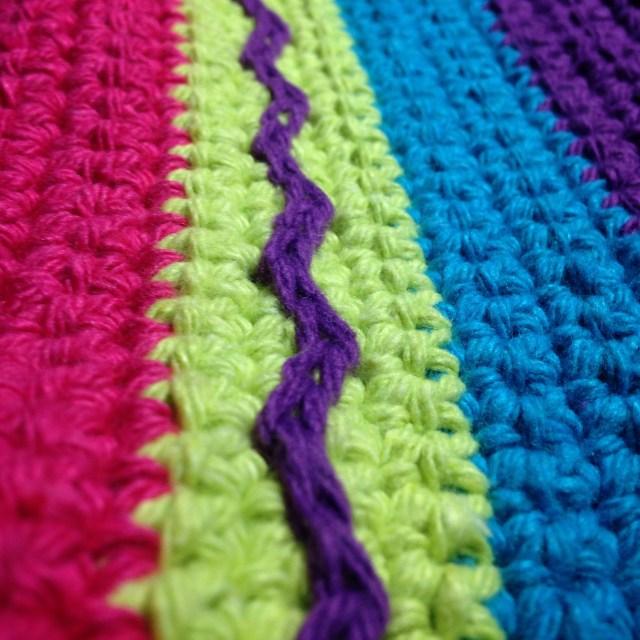 Sunny Days Tote Bag - Surface slip stitch