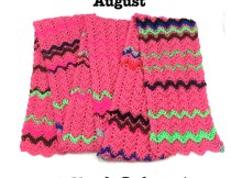 Crochet Mood Scarf 2016 - August