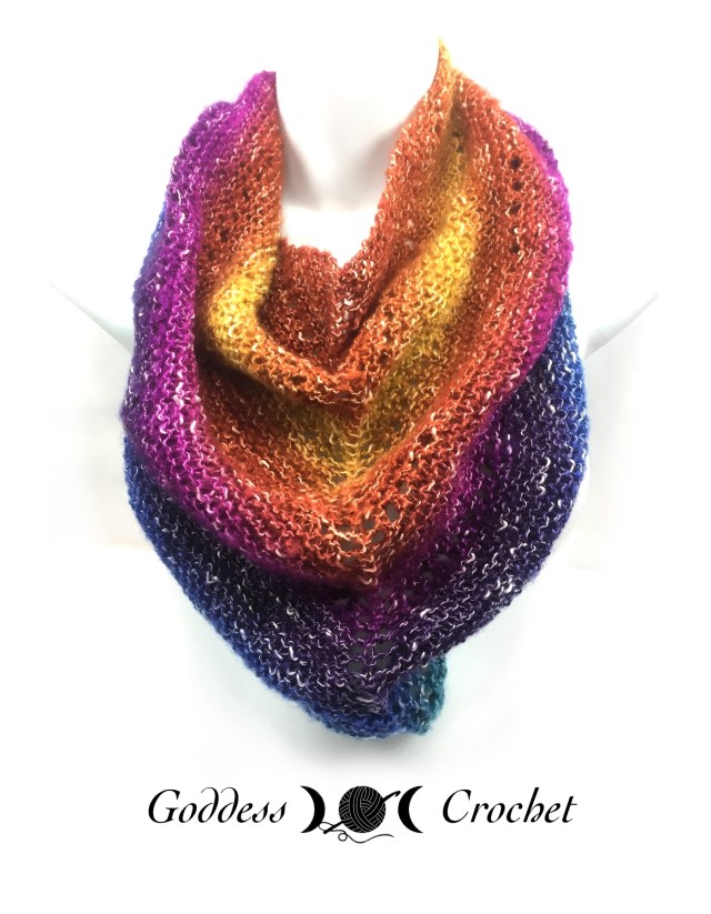 Pretty Basic Shawl Free Knitting Pattern Review Goddess Crochet