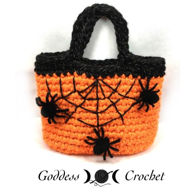Halloween Crochet Tote Bag