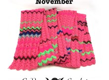 Crochet Mood Scarf 2016- November