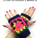 """Hip to Be Square"" Wrist Warmers - Free Crochet Pattern"